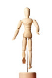 Hinged wooden mannequin on a stand Stock Photos