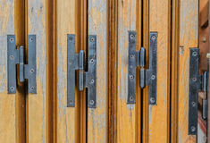 Hinges of the house doors Royalty Free Stock Images
