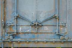 Hinges and locks on an old abandoned rail car Stock Photography
