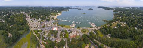 Hingham Harbor aerial view, Hingham, Massachusetts, USA stock image