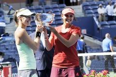 Hingis Martina Mirza Sania US Open 2015 (154) Stock Photography