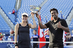 Hingis Martina Paes Leander Us Open 2015 (39) Stock Photo