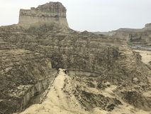 Hingol National Park - Pakistan. Kund Malir located in Balochistan nearly 300 km away from Karachi. Attractions include Princess of Hope, live mud volcano and Stock Image
