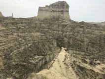 Hingol National Park - Pakistan. Kund Malir located in Balochistan nearly 300 km away from Karachi. Attractions include Princess of Hope, live mud volcano and Royalty Free Stock Images