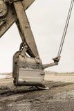 Hink av en bryta grävskopa med ett mekaniskt drev royaltyfri foto