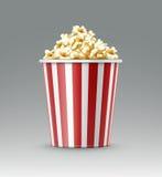 Hink av popcorn Fotografering för Bildbyråer