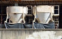 Hinkar för cementblandare Fotografering för Bildbyråer
