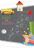 Hinkelspels - terug naar school Stock Foto