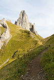 Hinking path, Switzerland Stock Image