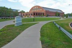 Hinkle Fieldhouse op de campus van Butler University stock fotografie