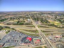 Hinkley è una città fuori di 35 da uno stato all'altro nel Minnesota del Nord Immagine Stock Libera da Diritti