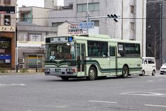 Hino Bus in Kyoto Royalty Free Stock Images