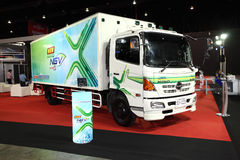 Hino truck on display at Bangkok International Auto Salon 2013 Stock Photography