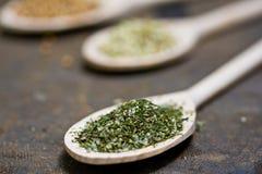 Hinojo, coriandro y perejil seco Imagen de archivo