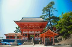 Hinomisaki Shrine located in Izumo, Shimane prefecture, Japan. The closest station for visiting here is JR Izumo station, and 45 m. Inutes bus ride. In summer stock images