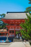 Hinomisaki Shrine located in Izumo, Shimane prefecture, Japan. The closest station for visiting here is JR Izumo station, and 45 m. Inutes bus ride. In summer royalty free stock photography
