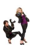 Hinreißend Frauen mit der Kamera Stockfotos