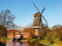 Hinte, traditionelle niederländische Windmühle Stockfoto