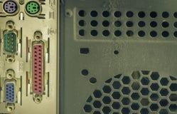 Hinter dem Computerkasten-Metallplastikgebrauch für Hintergrund oder Tapete Lizenzfreie Stockfotografie