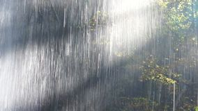 Hinter dem Wasserfall stock video