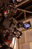 Hinter den Kulissen von der Videoproduktion oder vom Videodreh stockfotografie