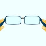 Hinter den leeren Gläsern Stockbild