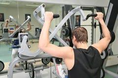 Hinter Gymnastikmann Lizenzfreie Stockfotos