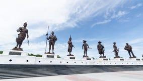 Hinter sieben Greatskönigen Thailand Lizenzfreie Stockfotografie