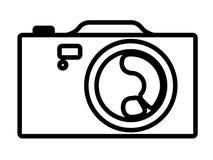 Hinter-Tor-Kamera-Ikone lizenzfreie abbildung