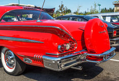 Hintere Ansicht 1957 Chevy Impalas Stockfoto