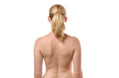 Hintere Ansicht der Rückseite einer formschönen jungen Frau Lizenzfreie Stockfotografie