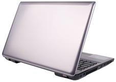 Hintere Ansicht des Laptops getrennt Lizenzfreies Stockfoto