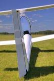 Hintere Ansicht des Segelflugzeugs. Lizenzfreies Stockbild