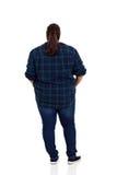 Übergewicht der hinteren Ansicht Lizenzfreies Stockbild