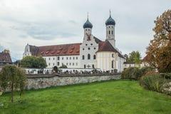 Hintere Ansicht von Benediktbeuern-Abtei Stockfotografie