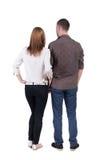 Hintere Ansicht von den Jungen, die Paare umfassen Stockbilder