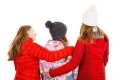 Hintere Ansicht von jungen Schwestern Lizenzfreie Stockfotos