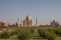Hintere Ansicht von Taj Mahal Stockbilder
