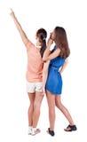 Hintere Ansicht von zwei Frauen Stockbild