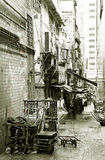 Hintere Gasse in Hong Kong Lizenzfreie Stockfotografie