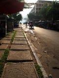 Hintere Gasse von Phnom Penh Stockbild