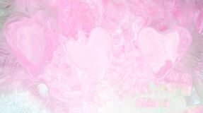 hintere Illustration von rosa Herzen auf einer rosa Hintergrundabstraktion kaum sichtbar Stockfotos