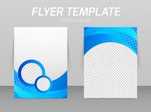 Hintere und vordere Designschablone des Fliegers Stockbild
