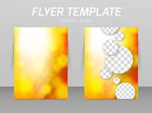 Hintere und vordere Designschablone des Fliegers Stockbilder
