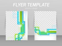 Hintere und vordere Designschablone des Fliegers Stockfotos
