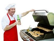 Hintere Veranda BBQ - getrennt Stockfoto