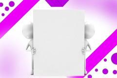 hintere Wandzwei-mannillustration des Mannes 3d Lizenzfreies Stockfoto