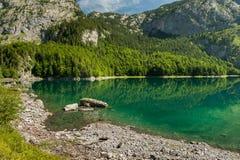 Hinterer Gosausee in Austria di estate, riflessione in acqua Fotografia Stock Libera da Diritti