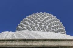 Hinterer großer Hauptbuddha Stockbild