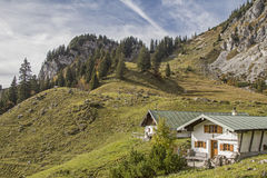 Hinteres Scharnitzalm südlich Benediktenwand Stockfoto